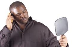 Junges afrikanisches Mannpflegen Lizenzfreies Stockbild