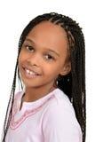 Junges afrikanisches weibliches Kind der Nahaufnahme Lizenzfreies Stockbild