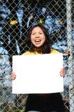 Junges asiatisches Mädchen Stockfotografie