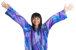 Junges asiatisches Mädchen in malaysischem Trachtenkleid VII Lizenzfreie Stockfotografie