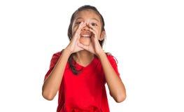 Junges asiatisches Mädchen schreiendes IV Lizenzfreie Stockbilder