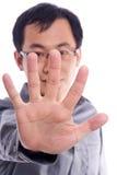 Junges asiatisches männliches Baumuster Lizenzfreies Stockfoto