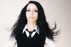 Junges attraktives gotisches Mädchen Stockfotografie