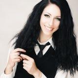 Junges attraktives gotisches Mädchen Stockfoto