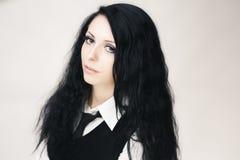 Junges attraktives gotisches Mädchen Lizenzfreies Stockfoto
