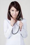 Junges attraktives Krankenschwestermädchen stockbild