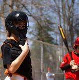 Junges Baseball-Fänger Stockfoto