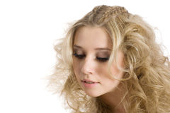 Junges blondes Mädchen des Porträts Lizenzfreies Stockbild