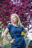 Junges blondes Mädchen im Art Pin-up-Girl Stockfotografie