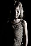 Junges deprimiertes Mädchen Lizenzfreie Stockbilder