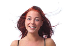 Junges dynamik redhaired Frau stockfotografie