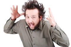 Junges EL mit lustigem hairmale MOD lizenzfreie stockfotos