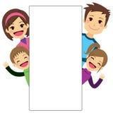 Junges Familien-Plakat Stockfotografie