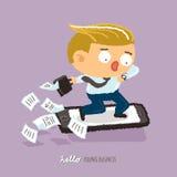 Junges Geschäft beeilen sich oben Charakterdesign Lizenzfreie Stockbilder