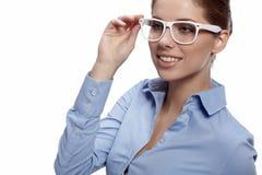 Junges Geschäftsfraulächeln lizenzfreies stockfoto