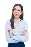 Junges Geschäftsfraulächeln Stockfotos