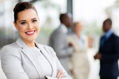 Junges Geschäftsfrauporträt lizenzfreie stockbilder