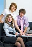 Junges Geschäftsteam lizenzfreies stockbild