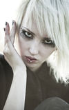 Junges goth Frauenportrait lizenzfreie stockbilder