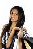 Junges indisches Mädcheneinkaufen. Stockbilder
