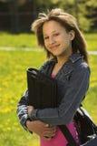 Junges jugendlich School-girl stockbild