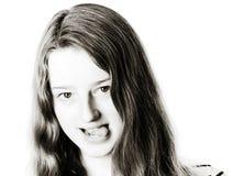 Junges Jugendlichenahaufnahmeporträt mit verschiedenen Gefühlen lizenzfreie stockfotografie