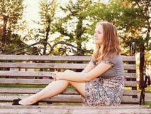 Junges Jugendlichmädchen des Porträts Stockfoto