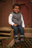 Junges Jungen-Porträt Lizenzfreie Stockfotos