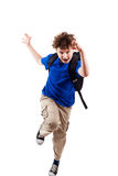 Junges Jungenspringen Stockbild