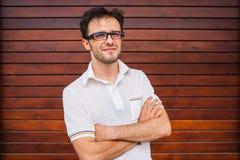 Junges kaukasisches Mannporträt Stockfotografie