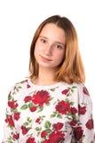 Junges lächelndes Jugendlichmädchen lizenzfreies stockfoto