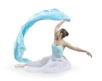 Junges lächelndes Mädchen tanzt Ballett Lizenzfreie Stockfotos