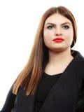 Junges lateinisches Frauenporträt der Schönheit, langes Haar brunett Mädchen Stockfoto