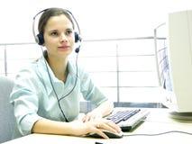 Junges Mädchen 2 der Informationsstelle lizenzfreie stockfotos