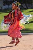 Junges Mädchen - amerikanischer UreinwohnerPowwow Lizenzfreies Stockfoto