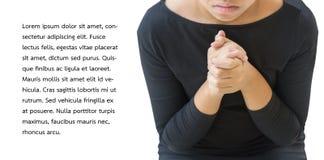Junges Mädchen beten zum Gott stockbilder