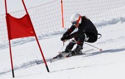 Junges Mädchen, das in Österreich 1. läuft. Lizenzfreies Stockbild