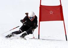 Junges Mädchen, das in Österreich 3. läuft. Stockbilder
