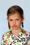 Junges Mädchen, das Missbilligung zeigt Stockbilder