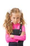 Junges Mädchen, das umgekippt schaut Stockbilder