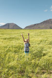 Junges Mädchen, das zum Gott betet Stockfotografie