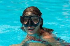 Junges Mädchen in der Maske Lizenzfreies Stockbild