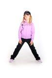 Junges Mädchen in der Sportausstattung Lizenzfreies Stockbild