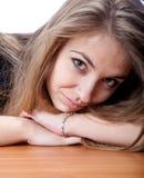 Junges Mädchen des Portraits Stockfoto