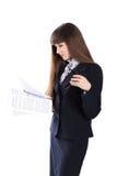 Junges Mädchen im Anzug Lizenzfreie Stockbilder