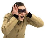 Junges Mädchen im Awe von, was sie sieht Lizenzfreie Stockfotografie