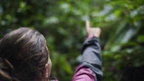 Junges Mädchen im Dschungel stock video footage