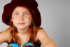 Junges Mädchen im Hut Lizenzfreie Stockfotos