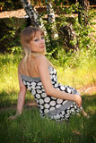 Junges Mädchen im Kleid Lizenzfreie Stockfotos