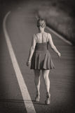 Junges Mädchen im Kleid Stockbilder